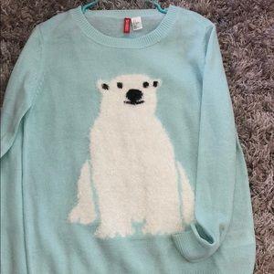 H&M polar bear sweater